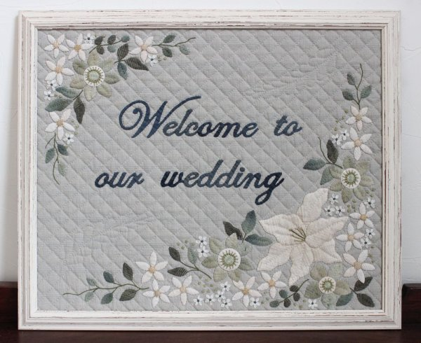 Photo1: Wedding Welcome Sign (Tax Excl.) (1)