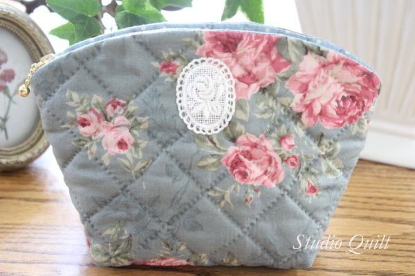 Photo1: Floral Pouch #2 (Tax Excl.) (1)