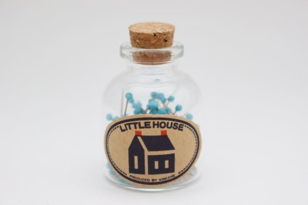 Photo1: Little House Glass Head Pins (1)